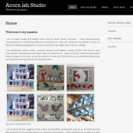 Website for A-Cornish Studio, Bude