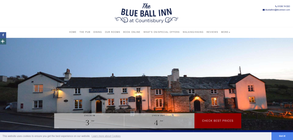 Hotels Lynmouth, Bed and Breakfast Accommodation North Devon – Blue Ball Inn