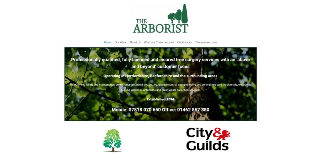 Tree Arborist – Hertfordshire, Bedfordshire and the surrounding areas