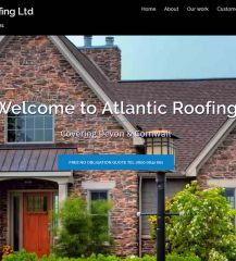 Website for Atlantic Roofing